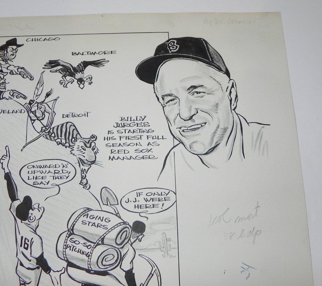 1959 Boston Red Sox Bill Jurges Baseball Original Art - 6