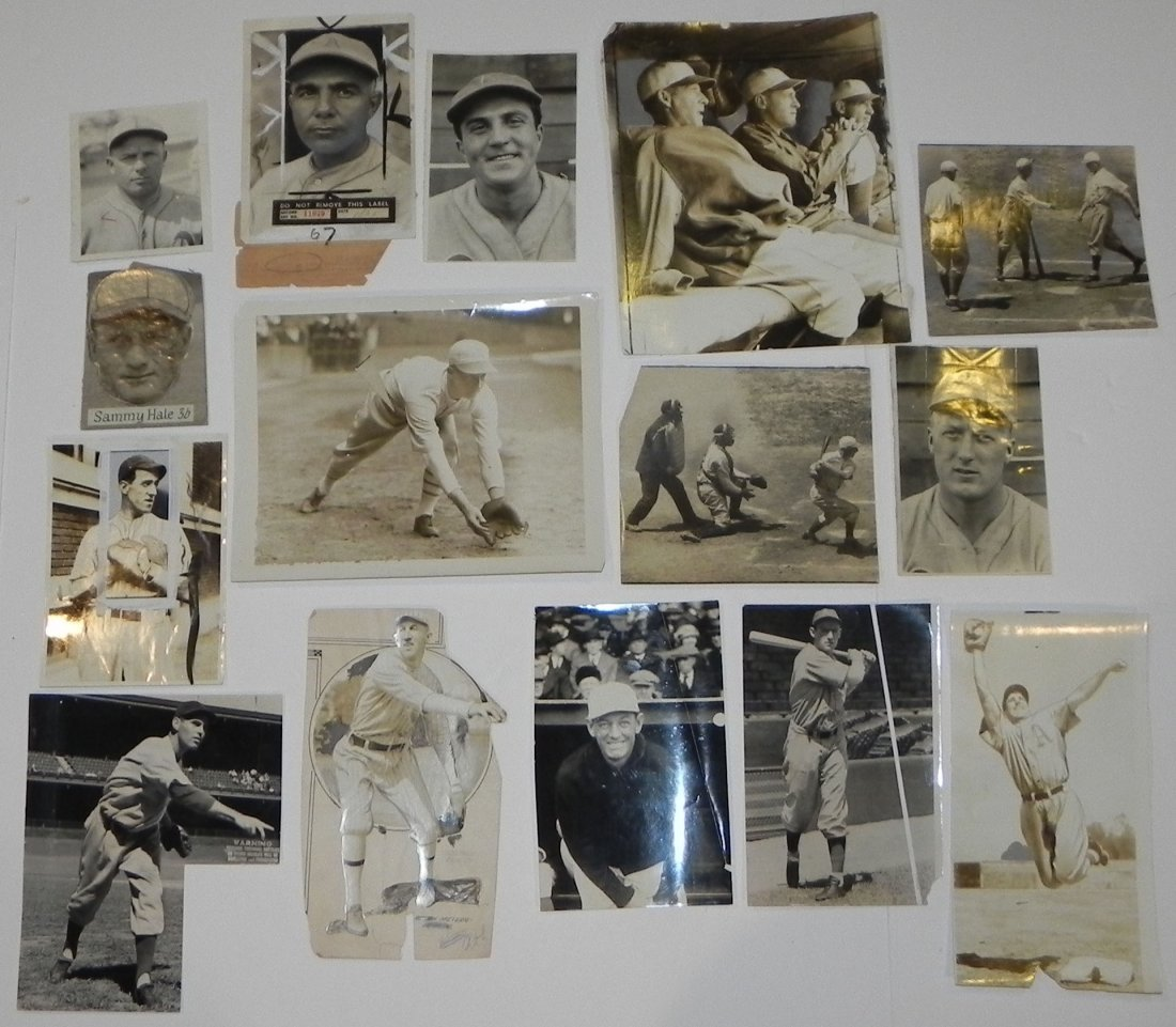 Lot of 15 Philadelphia Athletics Press Photos 1916-1943