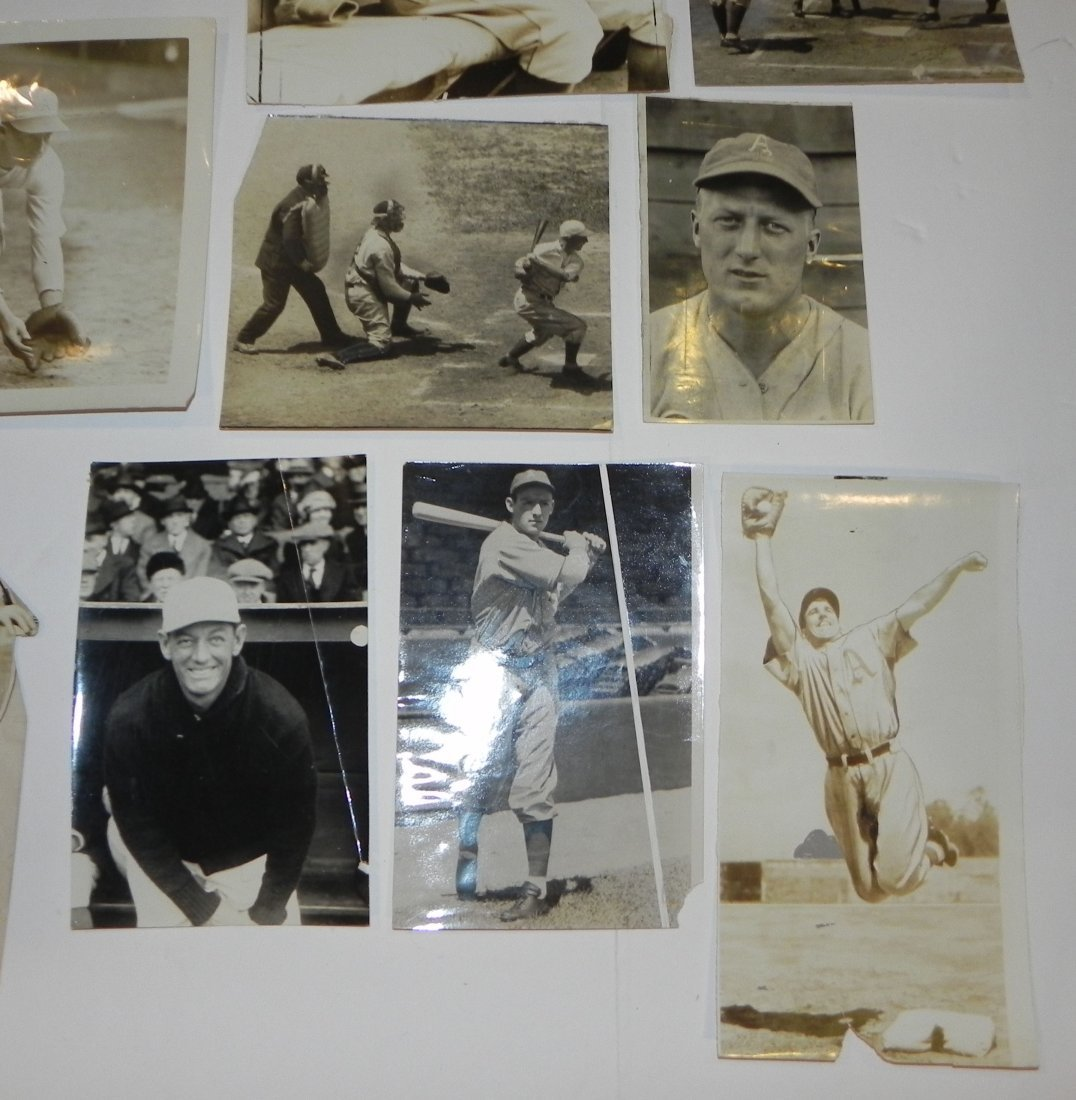 Lot of 15 Philadelphia Athletics Press Photos 1916-1943 - 2