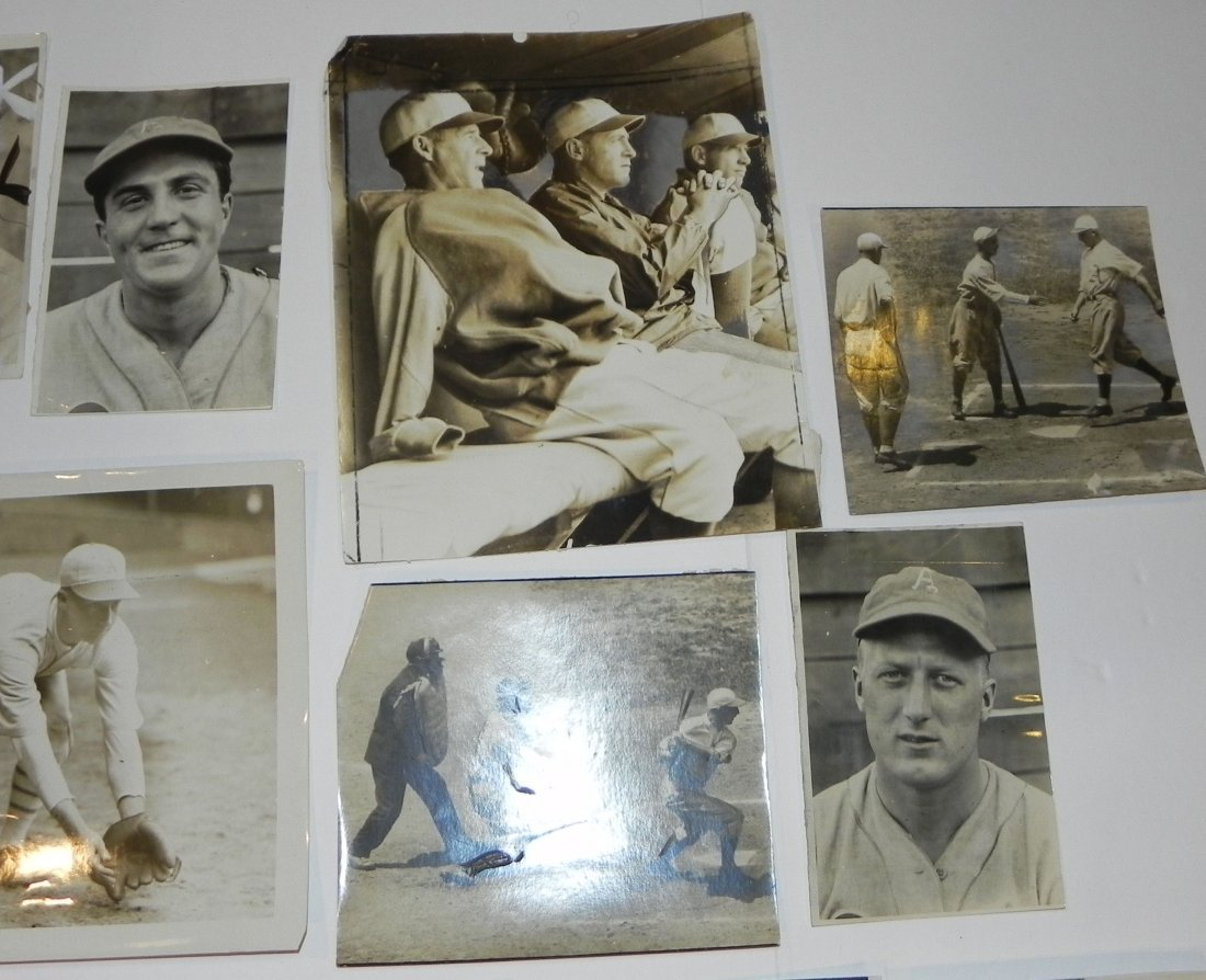 Lot of 15 Philadelphia Athletics Press Photos 1916-1943 - 4