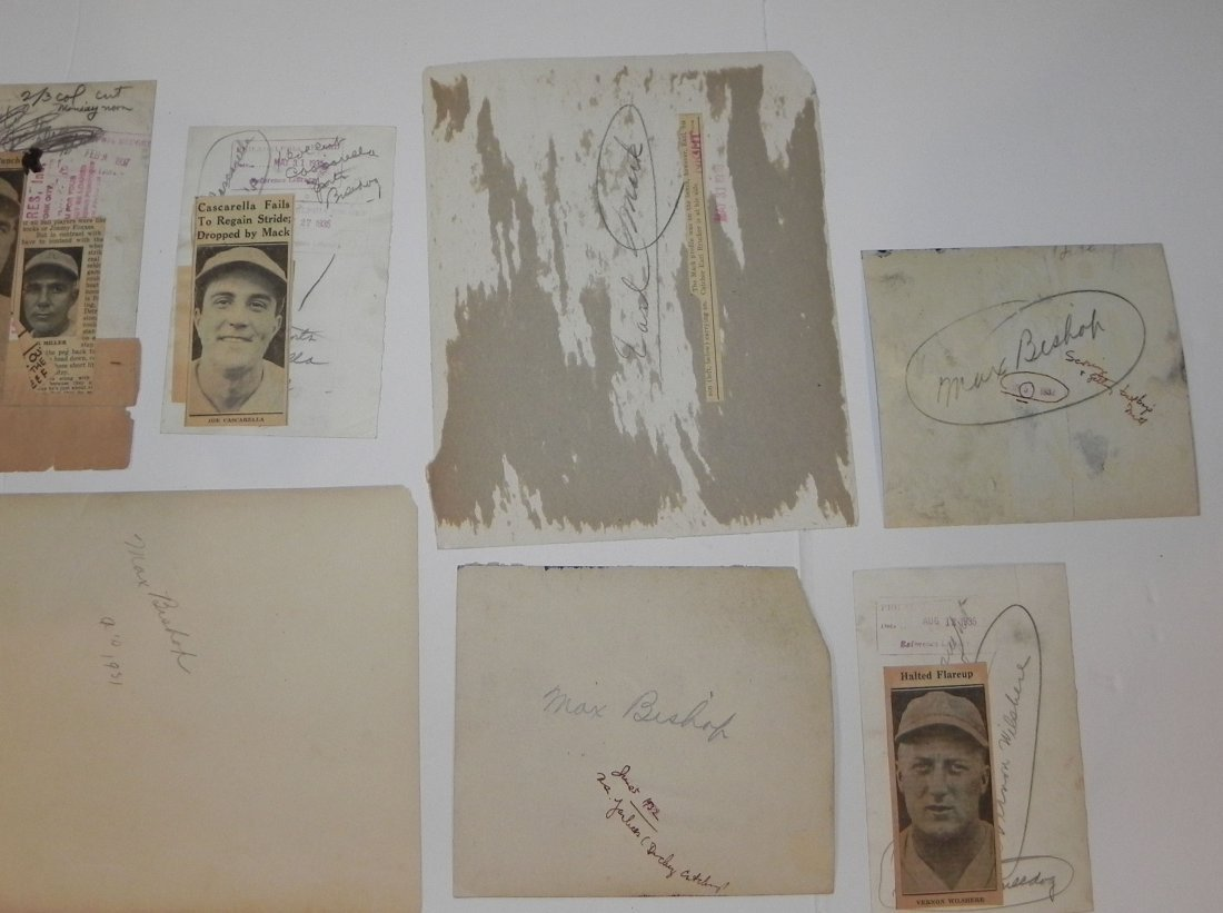 Lot of 15 Philadelphia Athletics Press Photos 1916-1943 - 8
