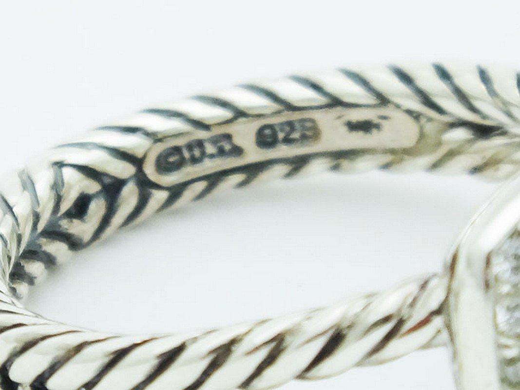 David Yurman Silver Petite Albion Ring  Turquoise Pave - 3