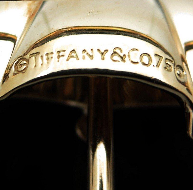 Vintage Tiffany & Co. 18k Gold Diamond Umbrella Pin - 4