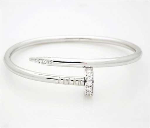 be08faaff81 Cartier White Gold Nail Bracelet. See Sold Price