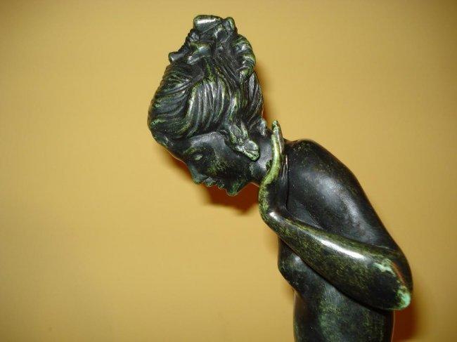 "Harriet Frishmuth ""Play Days"" American Bronze - 4"