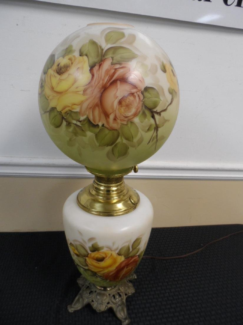 Vintage Gone with the Wind style hand painted lamp