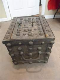 Antique J. Delano Hobnail Safe