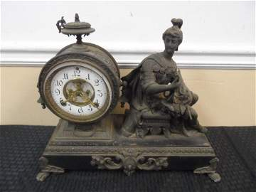 Antique Ansonia Roman Soldier clock, dated 1887