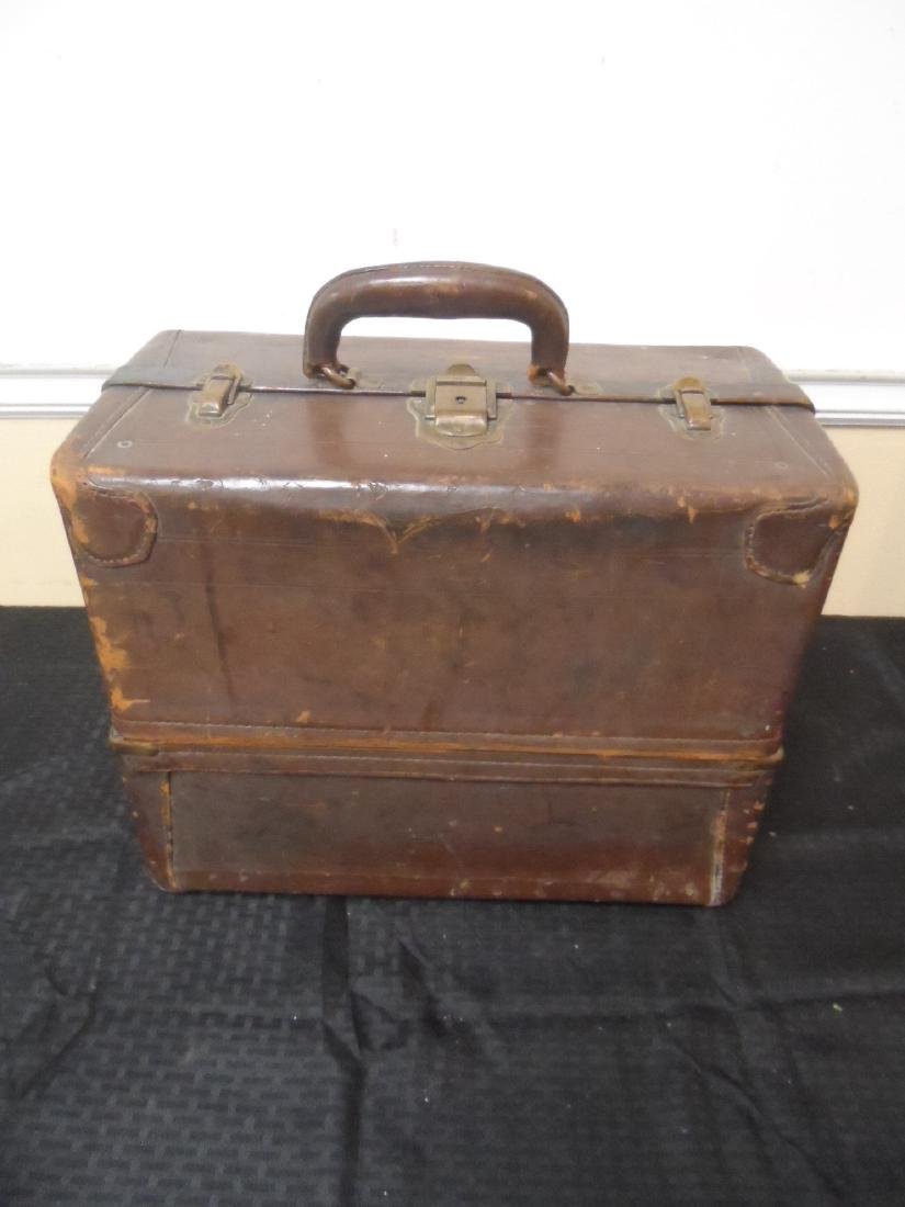 Knickerbocker Case Co. Leather Tackle Box, Chicago.