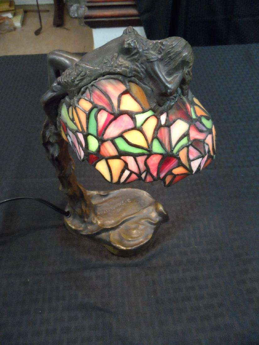 E. Thomasson Stained Glass Lamp