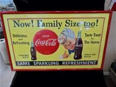 1955 Coca-Cola Sprite Boy Advertising Sign