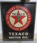 1930s-1940s Masonite Texaco Sign
