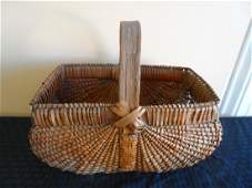 Antique Folk Art Split Oak Basket