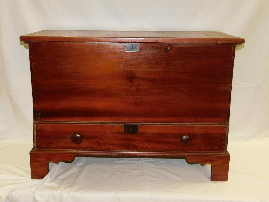 Early Country Primitive Blanket Chest with Drawer
