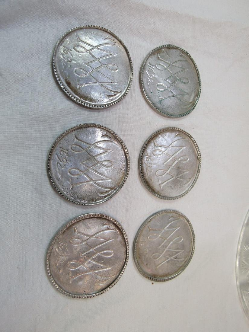 Lot of 6 Eastern Airlines Medallions
