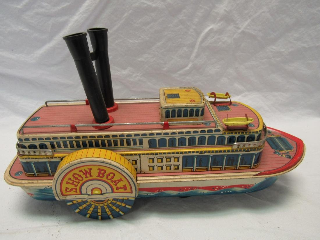 Vintage Show Boat Tin Toy