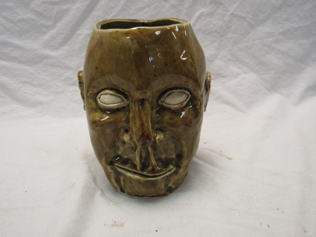 Pottery Face Vase