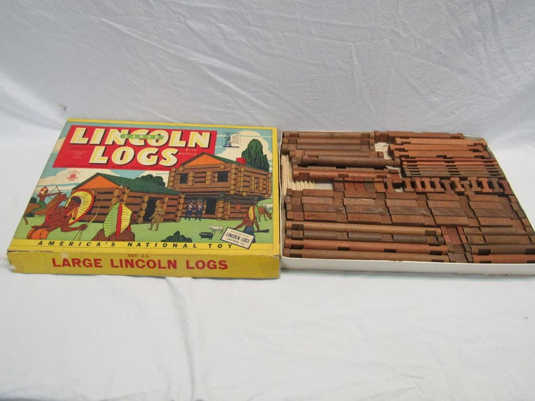 Vintage Set of Lincoln Logs