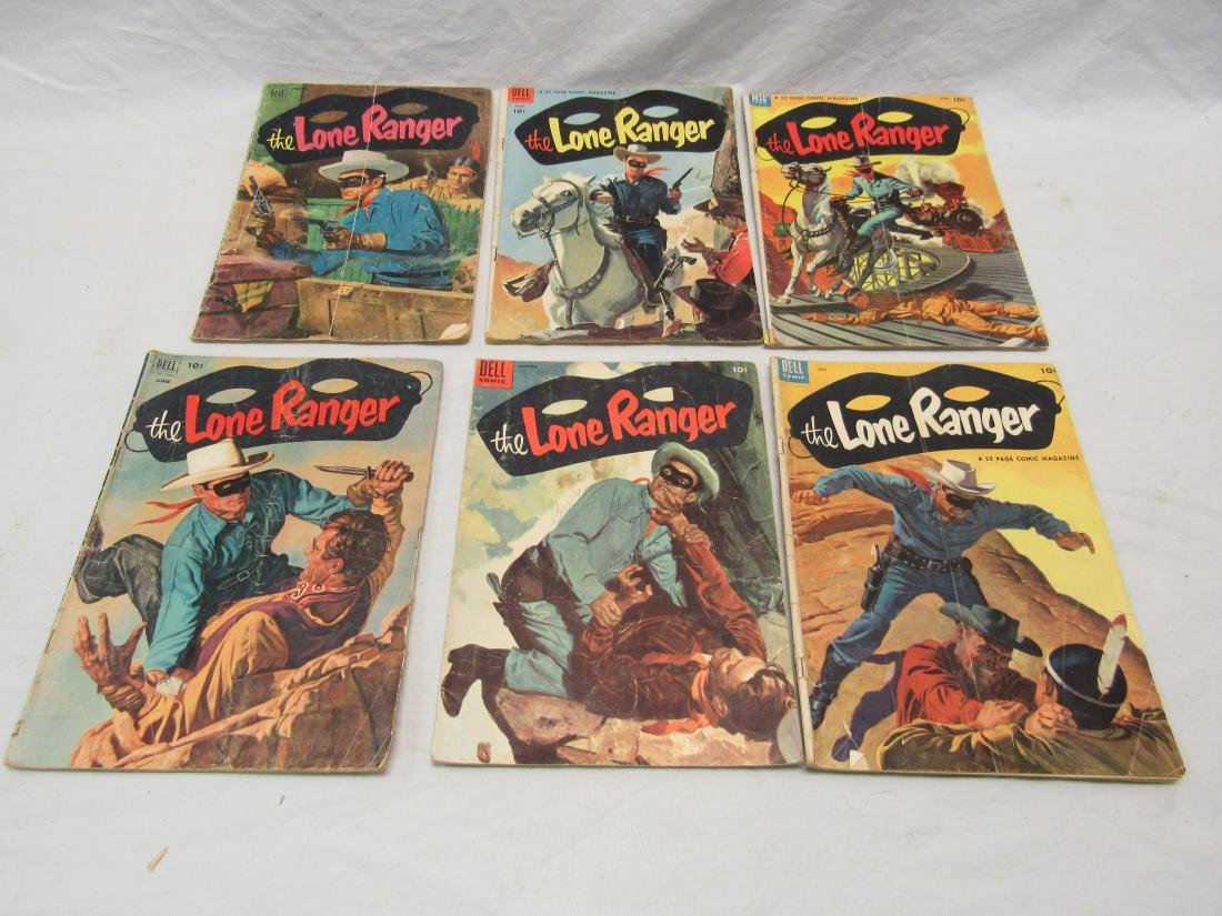 Lot of 16 Vintage Lone Ranger Comic Books