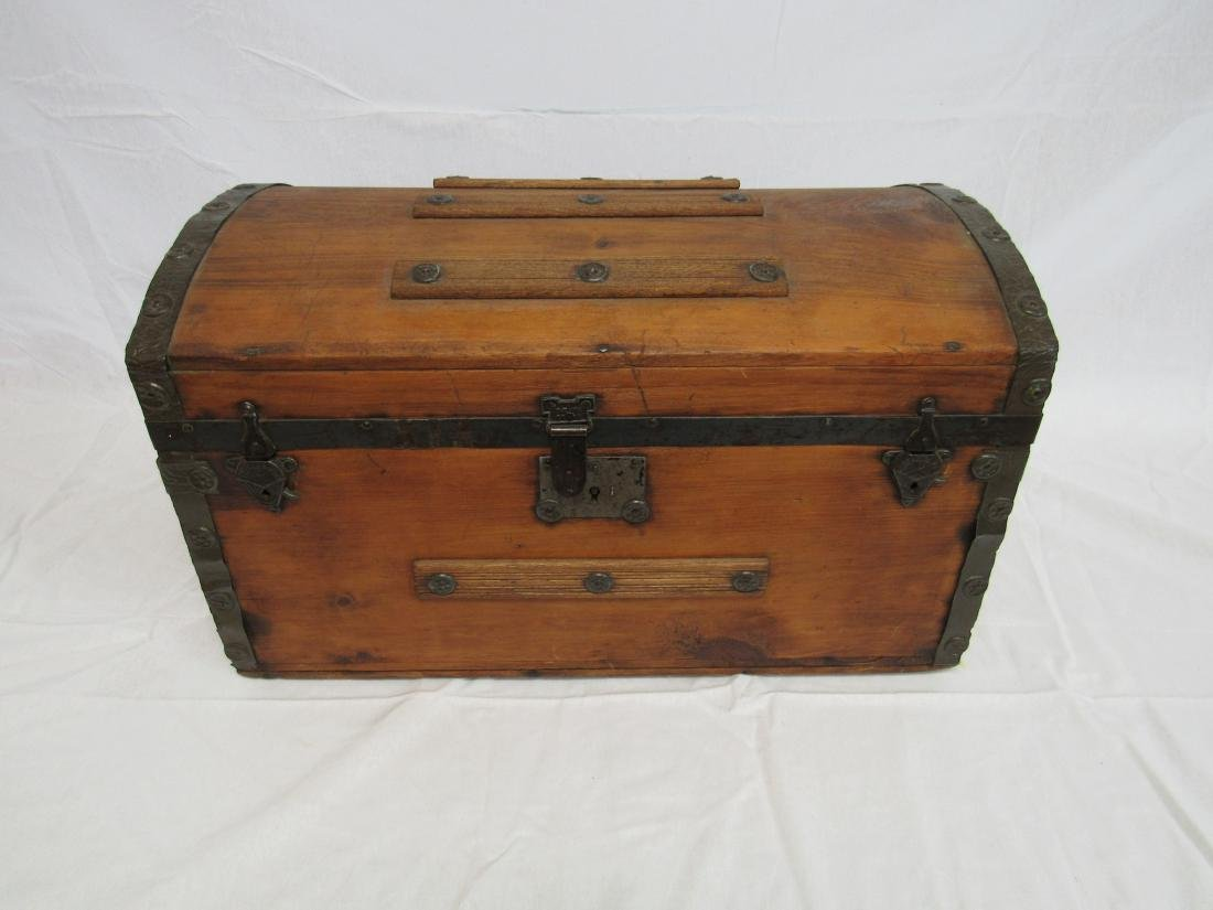 Early Childs Camel Back Trunk
