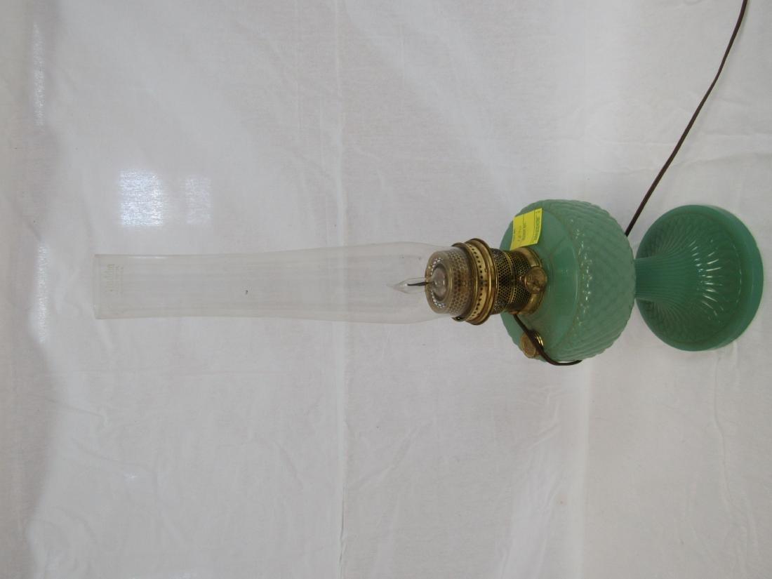 Aladdin Jadeite Electrified Kerosene Lamp
