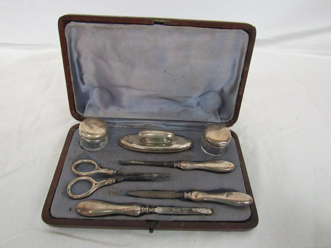 Antique English Sterling Manicure Set