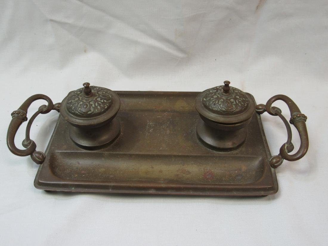 Antique Copper Inkwell