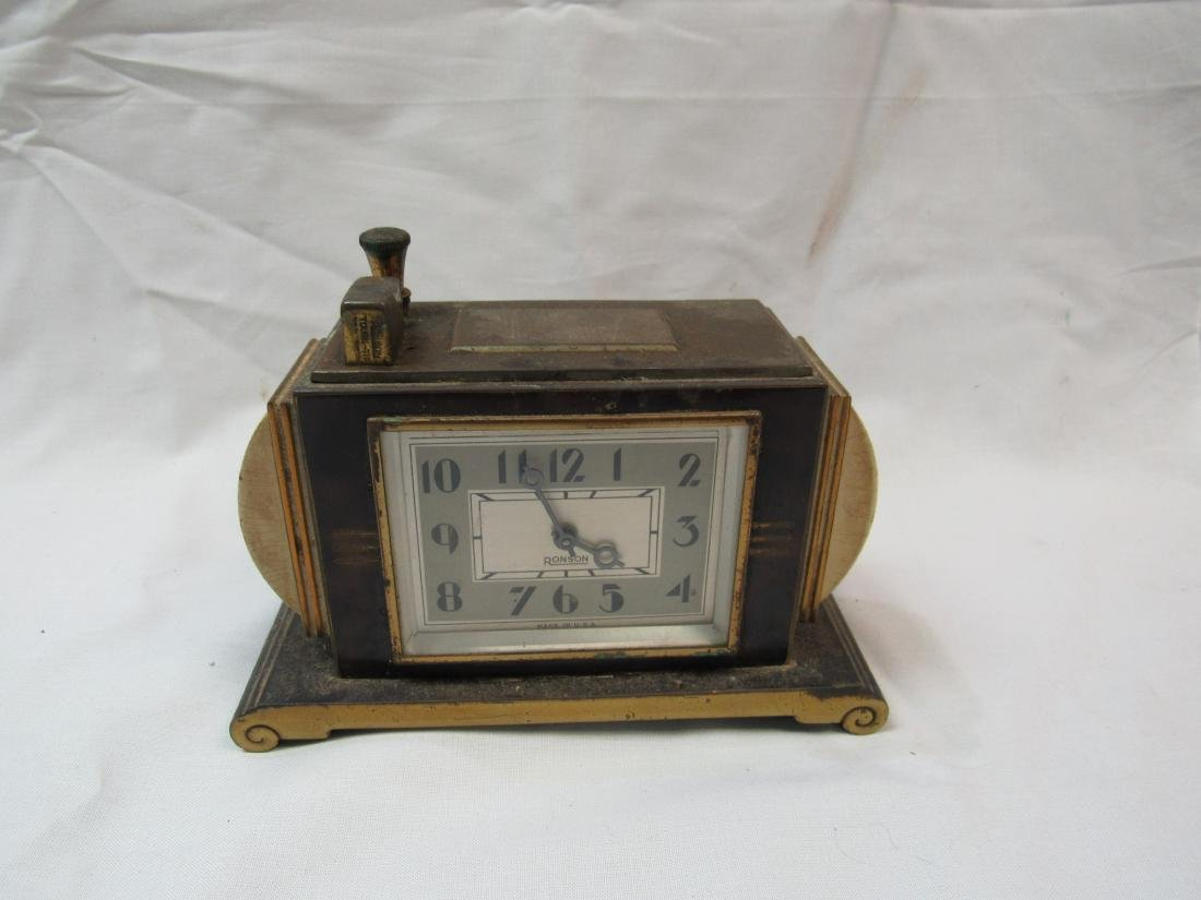 1930's Ronson Touch Tip Lighter with 8 Day Clock