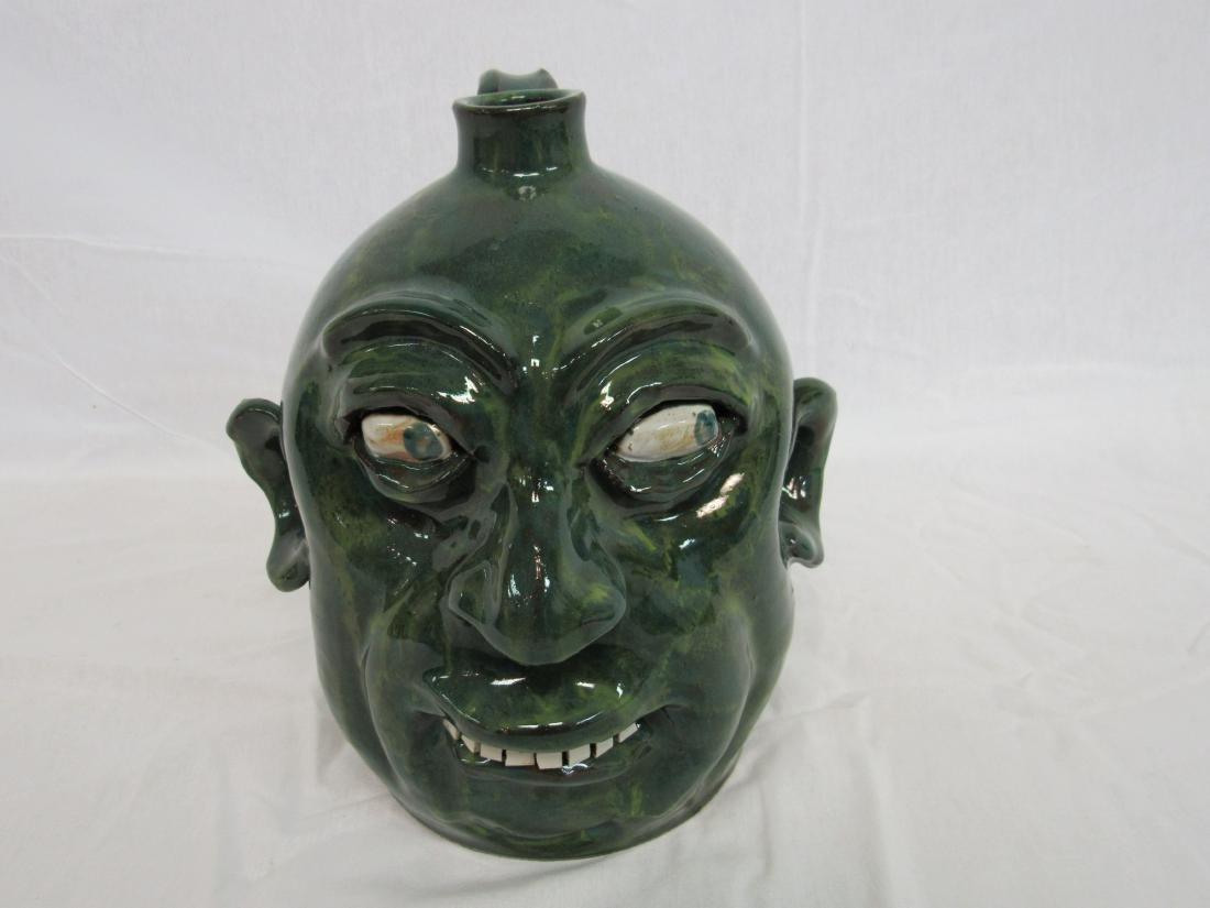 Marvin Bailey Folk Art Face Jug