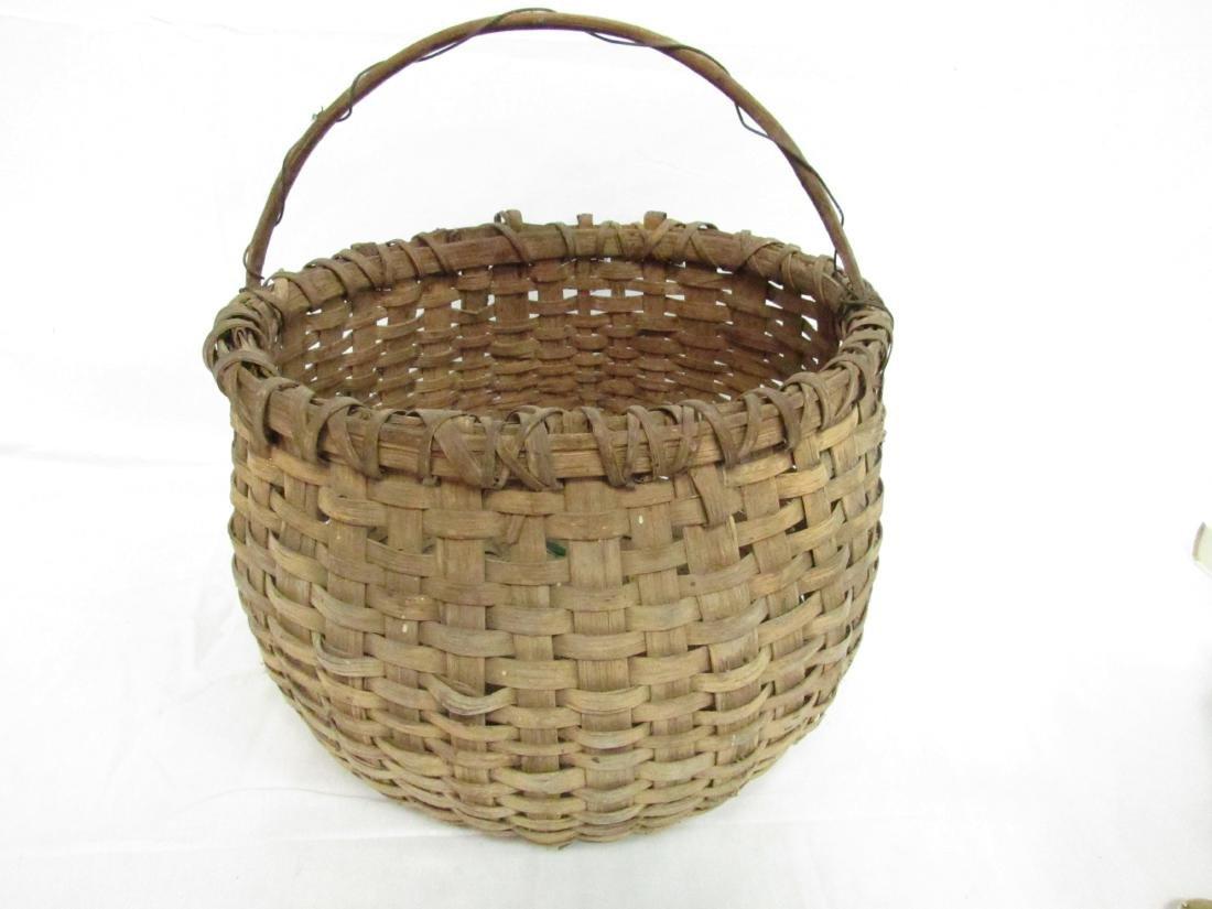 Antique Split Oak Folk Art Basket
