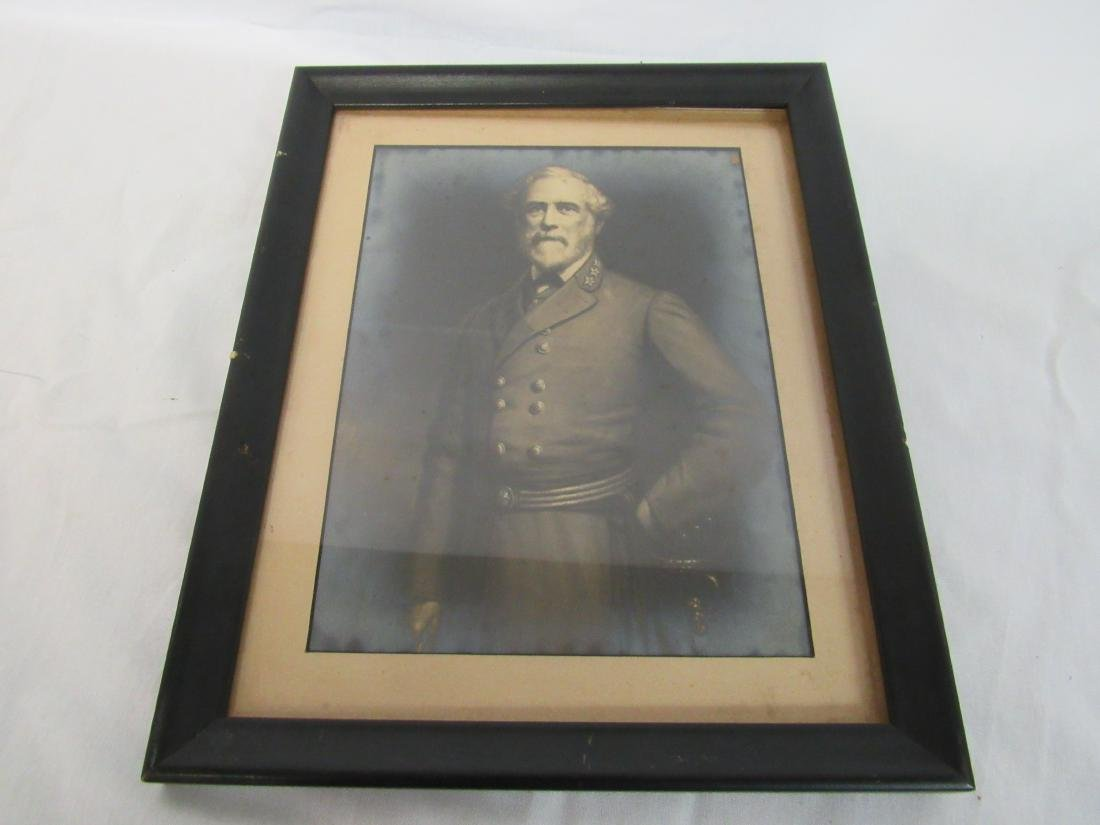 Antique Framed Photograph of Robert E. Lee
