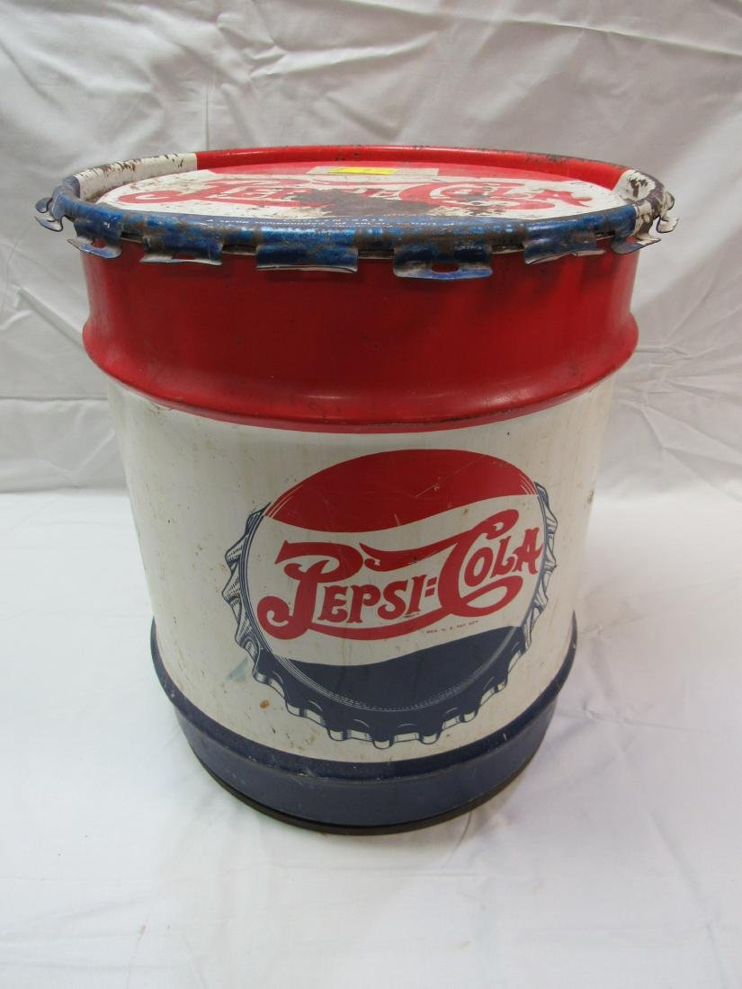 Early Pepsi-Cola 10 Gal Syrup Concentrate Can