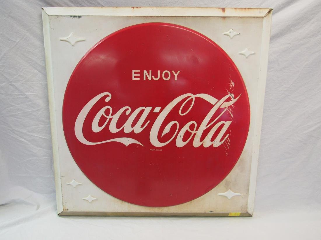 1950's Enjoy Coca-Cola Tin Sign