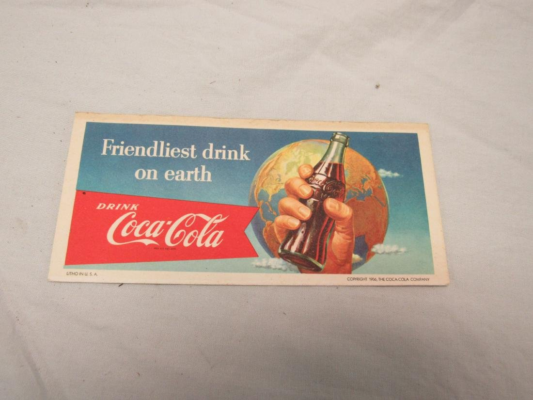 1956 Coca-Cola Lithographic Blotter Advertising