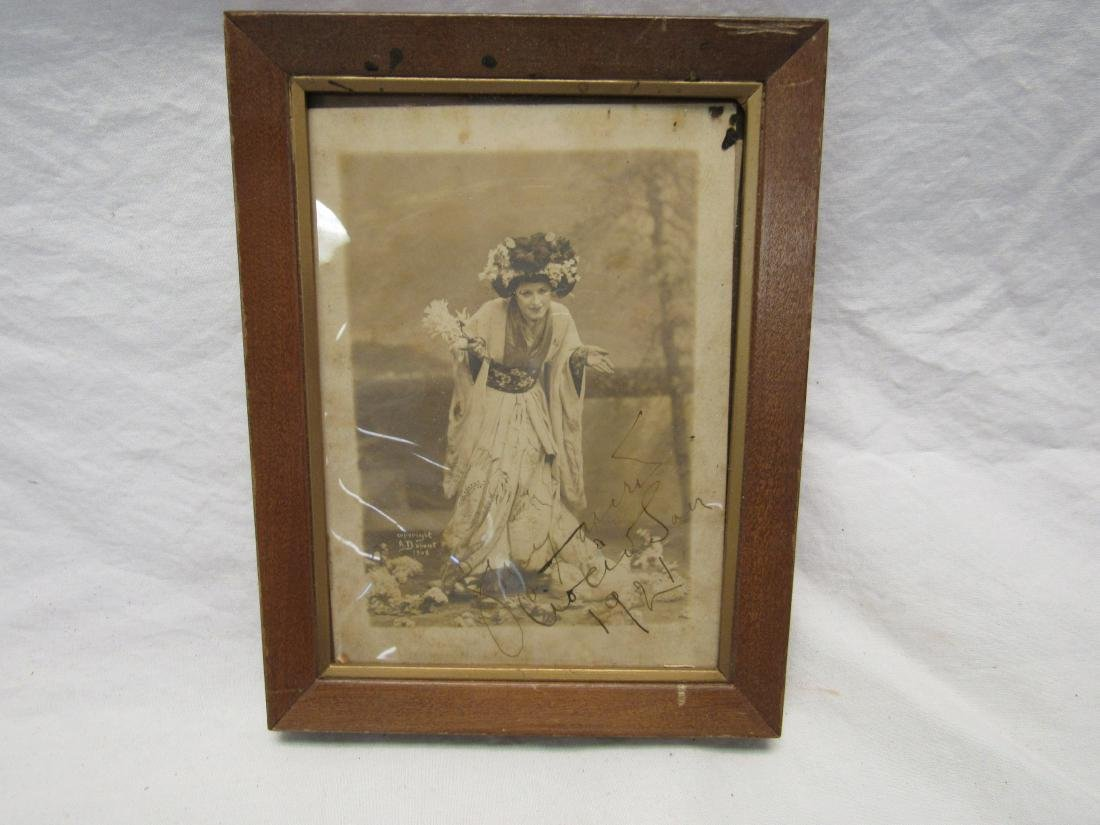 Autographed Picture of Geraldine Farrar as Madame