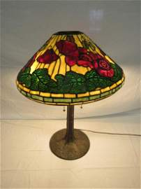 Tiffany Studio New York Poppy Slag Glass Lamp
