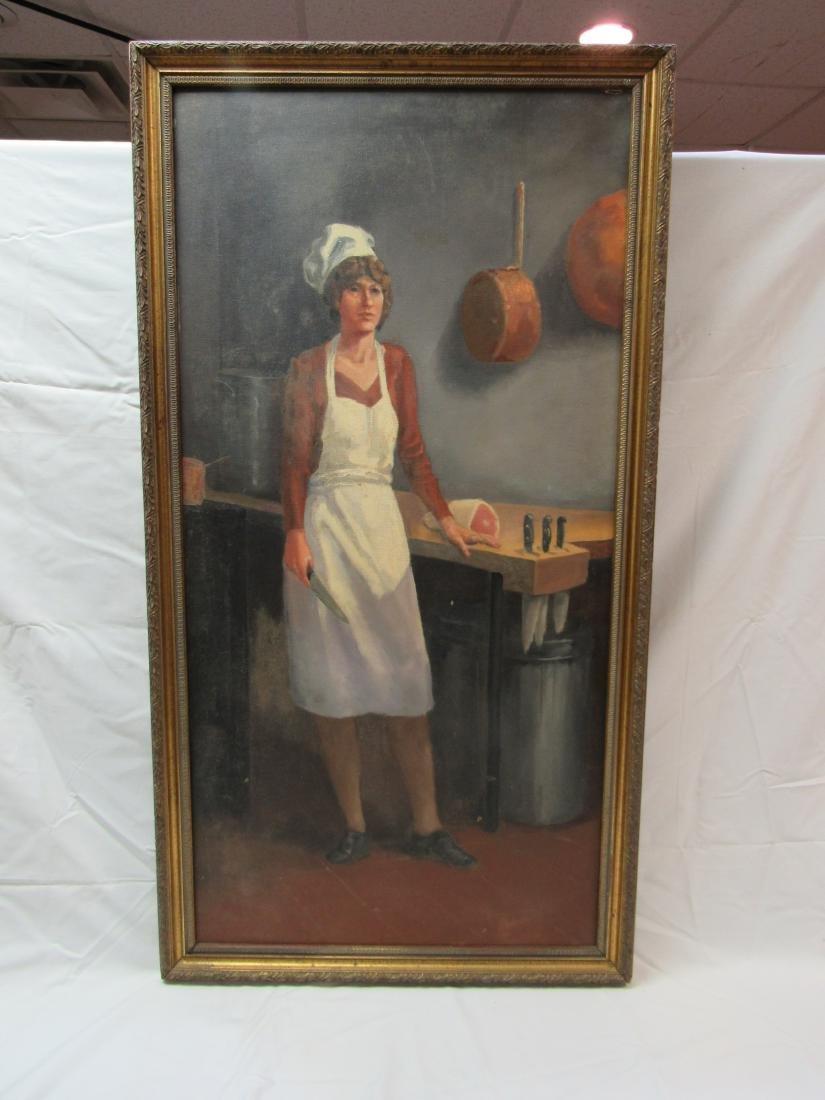 1878 Edwin T. Billings Original Oil on Canvas Portrait