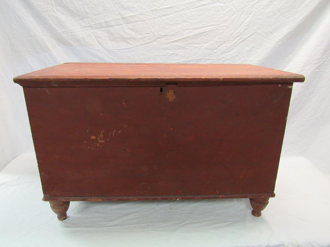 Primitive Buttermilk Painted Blanket Chest