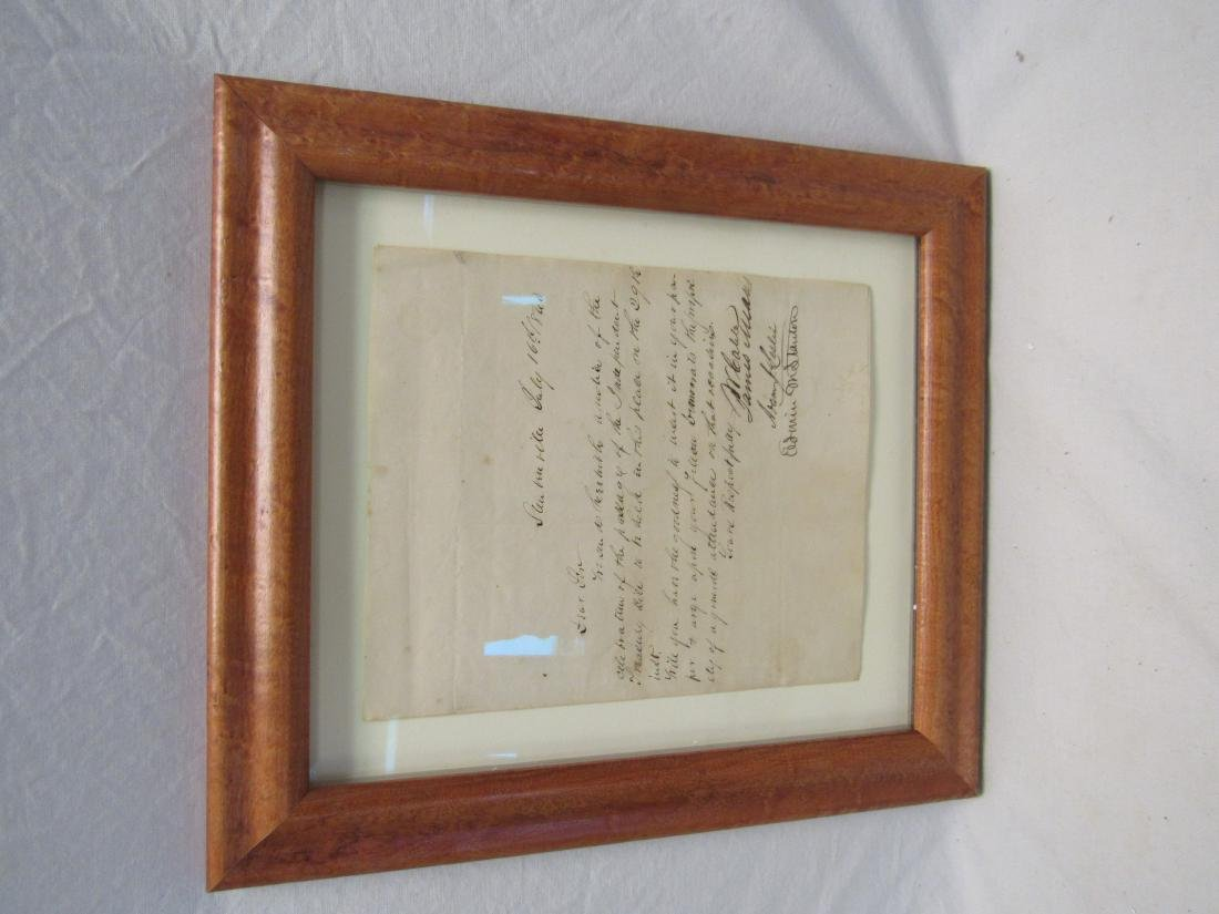 Antebellum Letter Signed by Edwin M. Stanton, dated