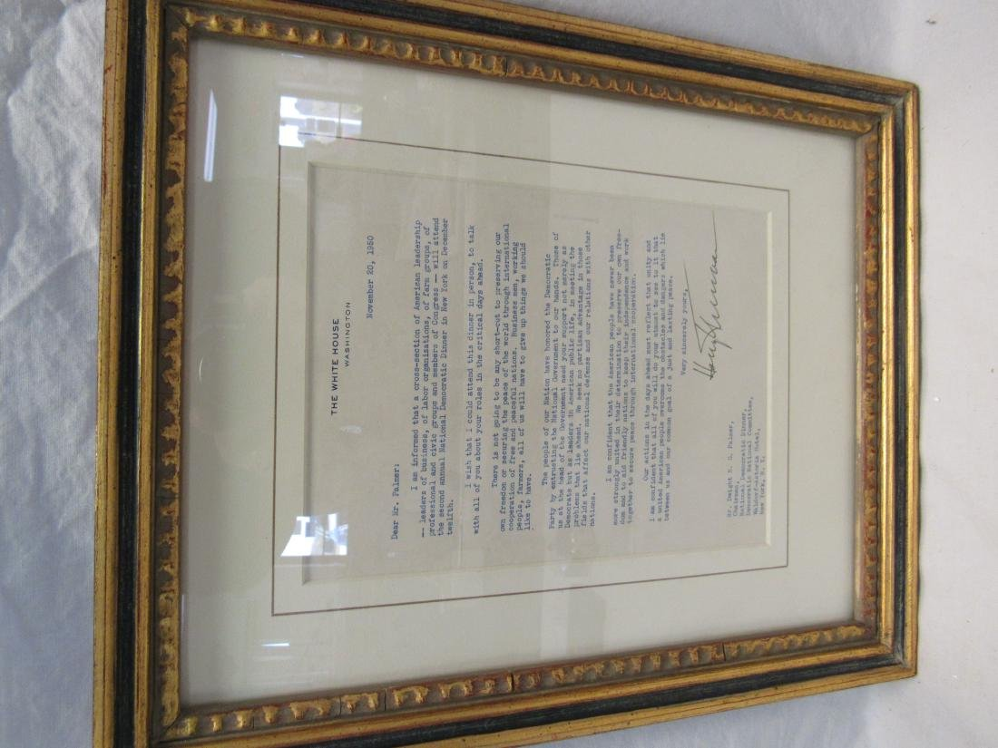 Signed Letter by President Harry Truman