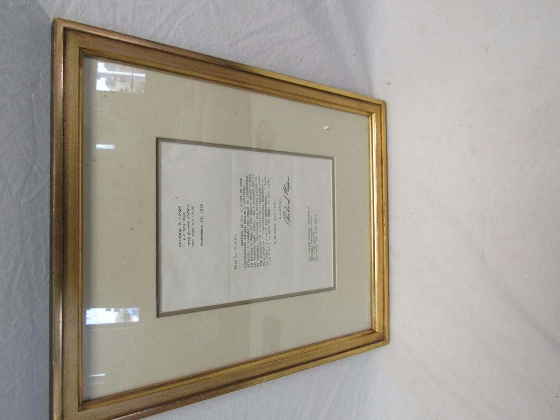Signed Letter by Richard Nixon