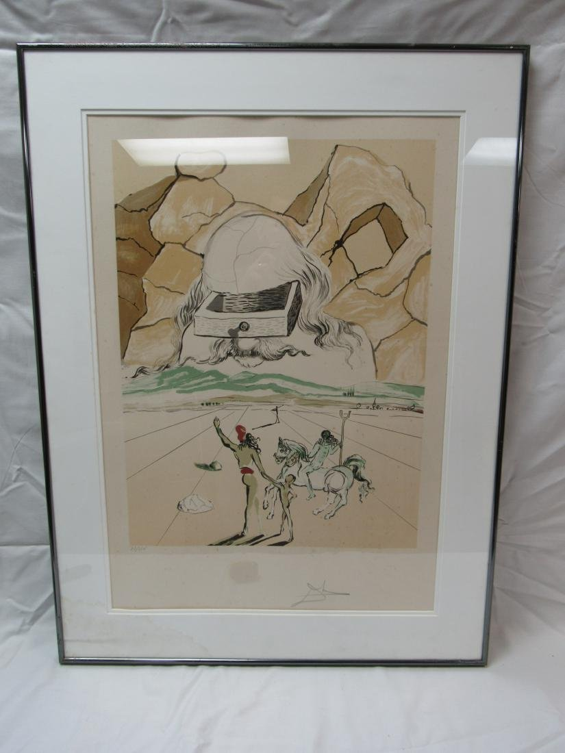 Signed 1978 Salvador Dali The Path To Knowledge Print