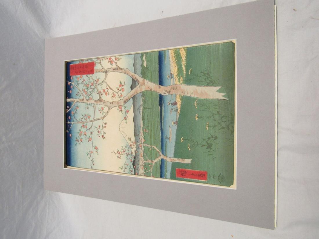 Antique Hiroshige Japanese Wood Block Print