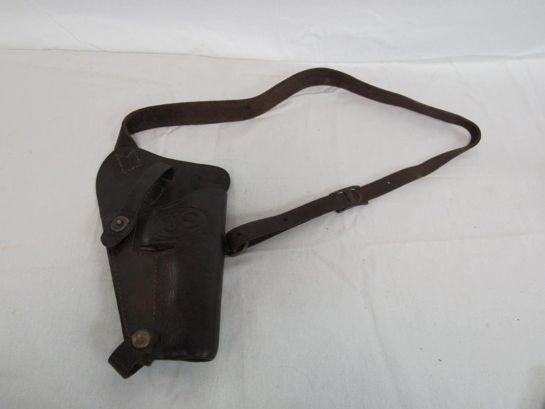 Original WWII Marine Crops Leather Holster