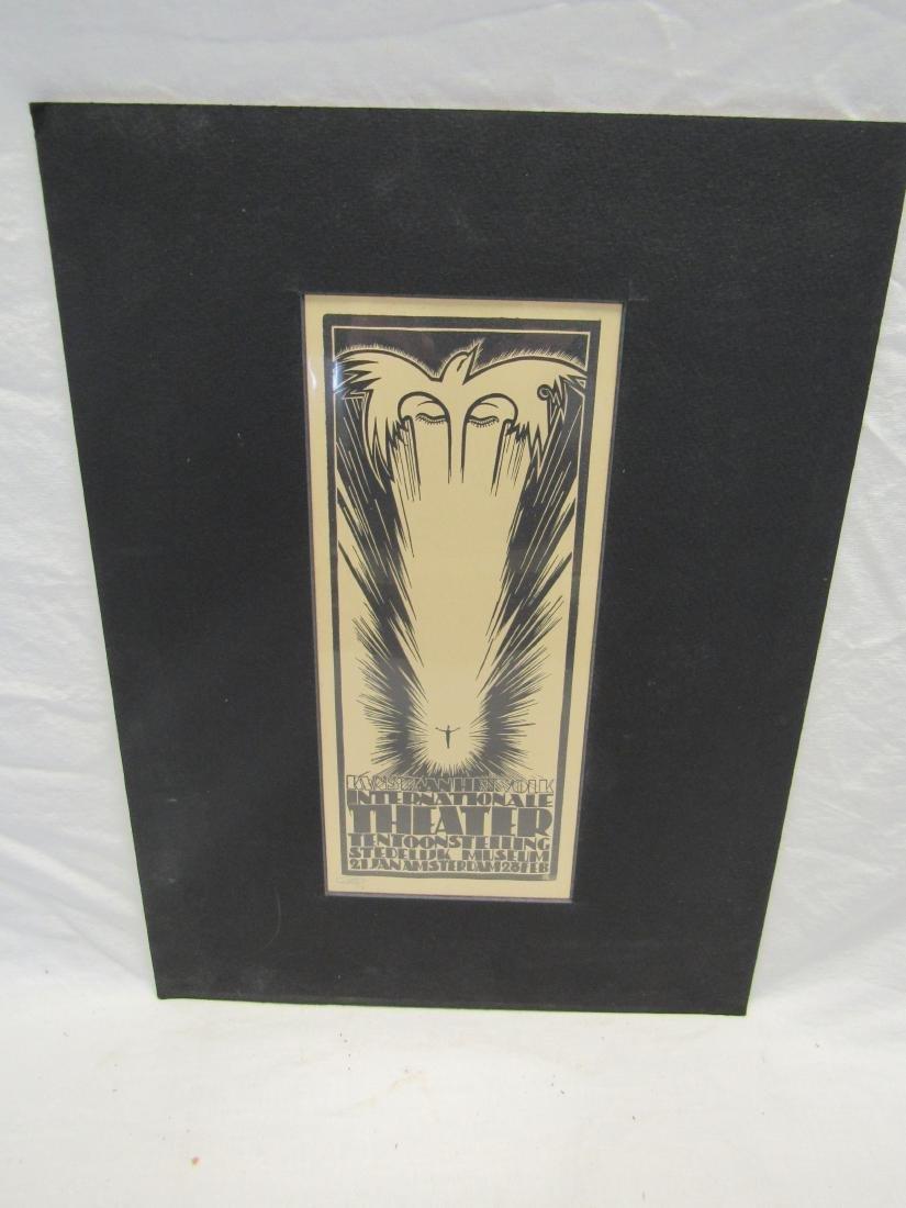 Earl Washington Wood Block Print, Untitled