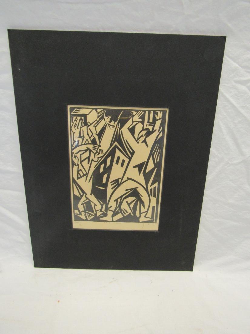 Earl Washington Wood Block Print, Red Sun