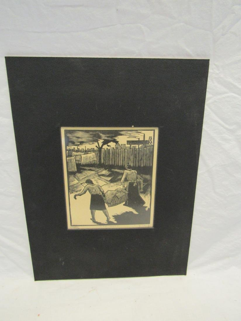 Earl Washington Wood Block Print, The Wash