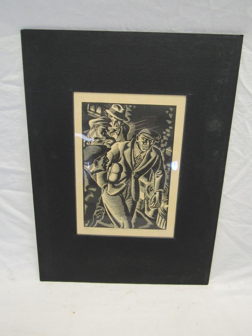 Earl Washington Wood Block Print, Negro Gangster
