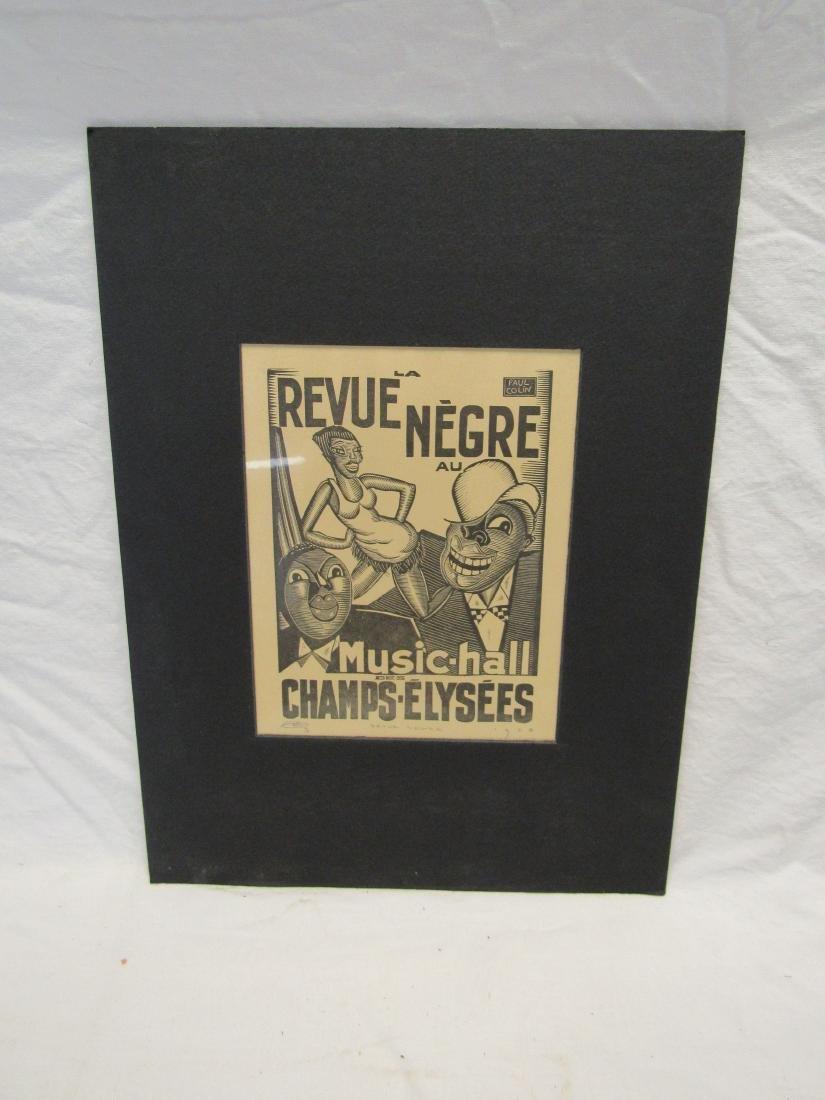 Earl Washington Wood Block Print, Revue Negre