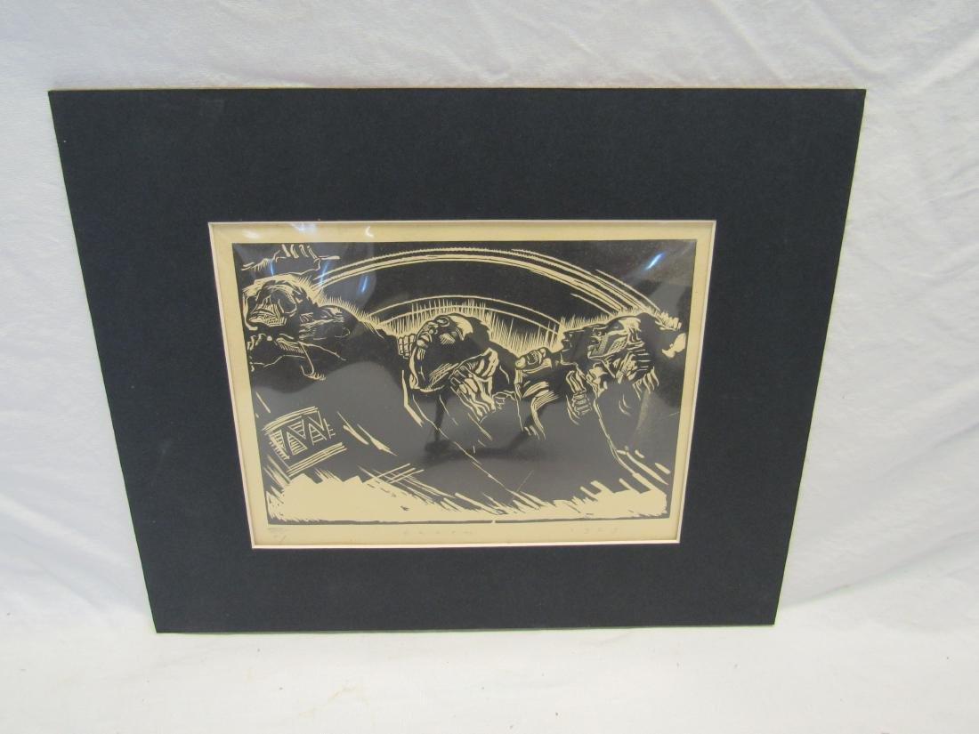 Earl Washington Wood Block Print, Death